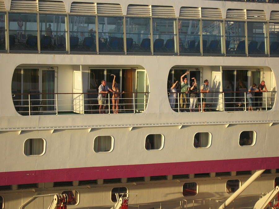 Cruise Ship Photograph - All Hell Breaks Loose On The Balcony by French Toast