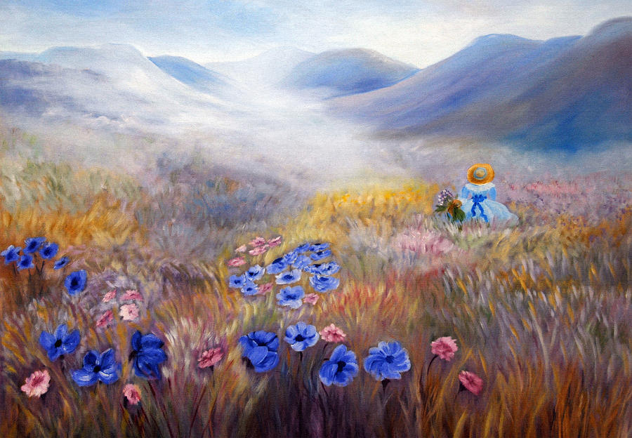 Field Painting - All In A Dream - Impressionism by Georgiana Romanovna
