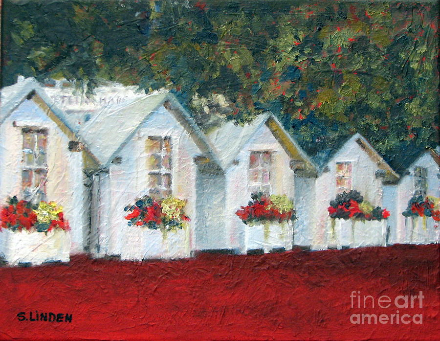 Landscape Painting - All In A Row by Sandy Linden