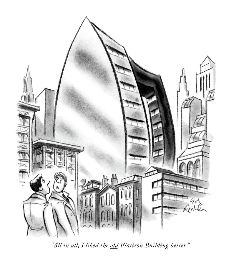 All In All, I Liked The Old Flatiron Building Drawing by Ed Fisher