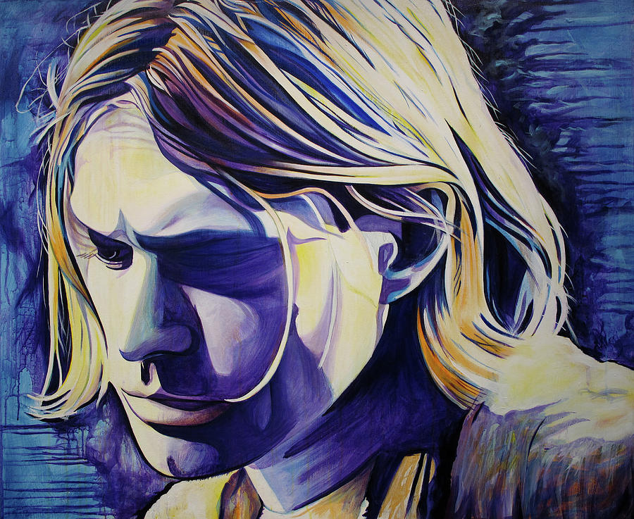Kurt Cobain Painting - All In All Is All We Are  by Joshua Morton