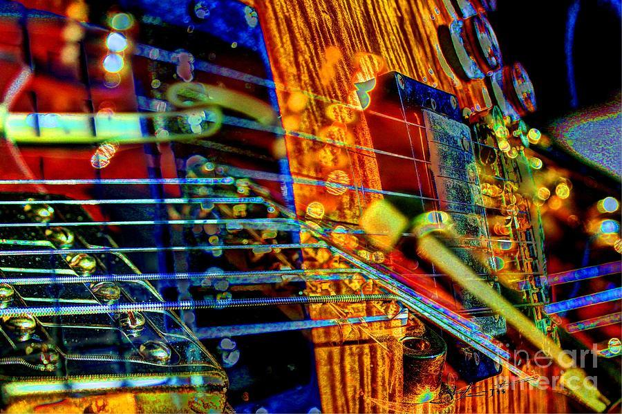 Guitar Photograph - All Mixed Up Digital Guitar Art By Steven Langston by Steven Lebron Langston