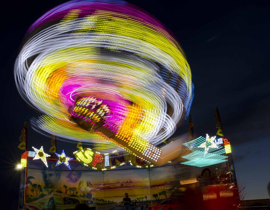 Carnival Photograph - All Of The Lights by Robert Holmberg