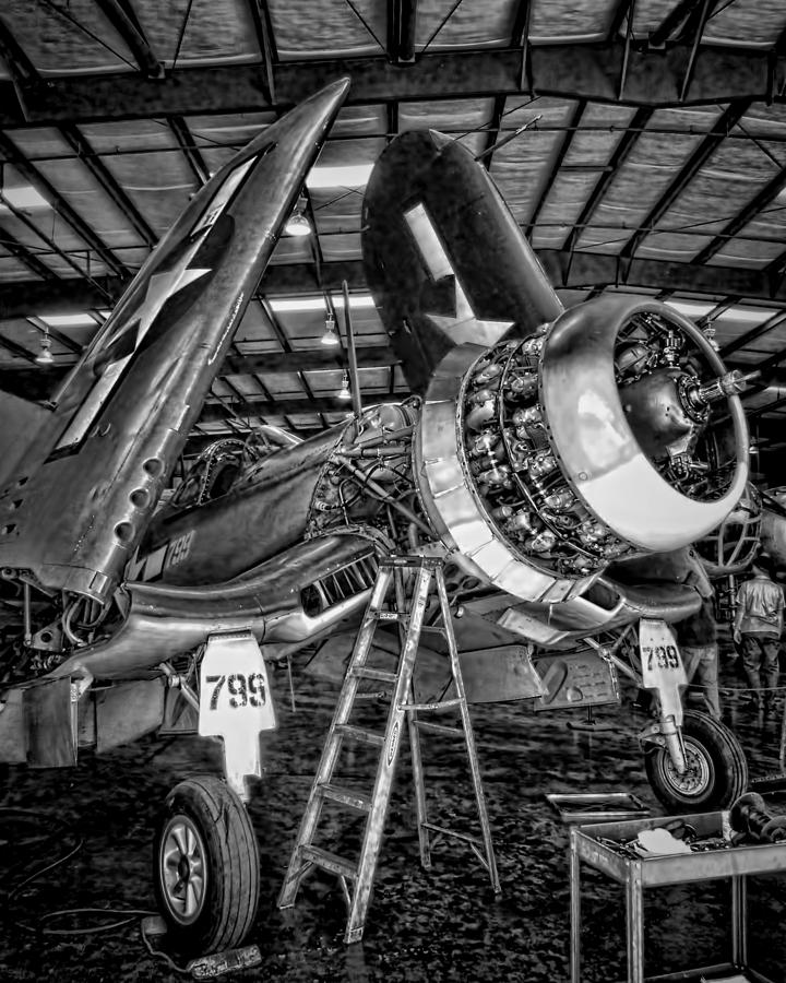 F4u Corsair Photograph - All Opened Up by Dale Jackson