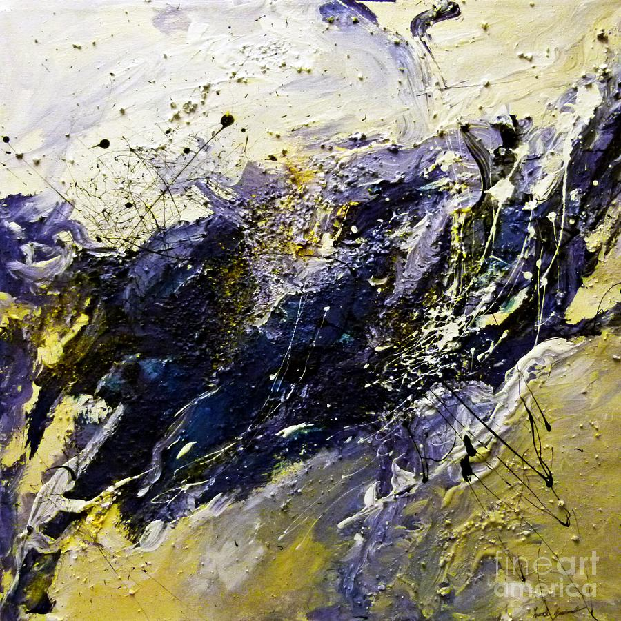 Blue Landscape Painting - All Or Nothing by Ismeta Gruenwald