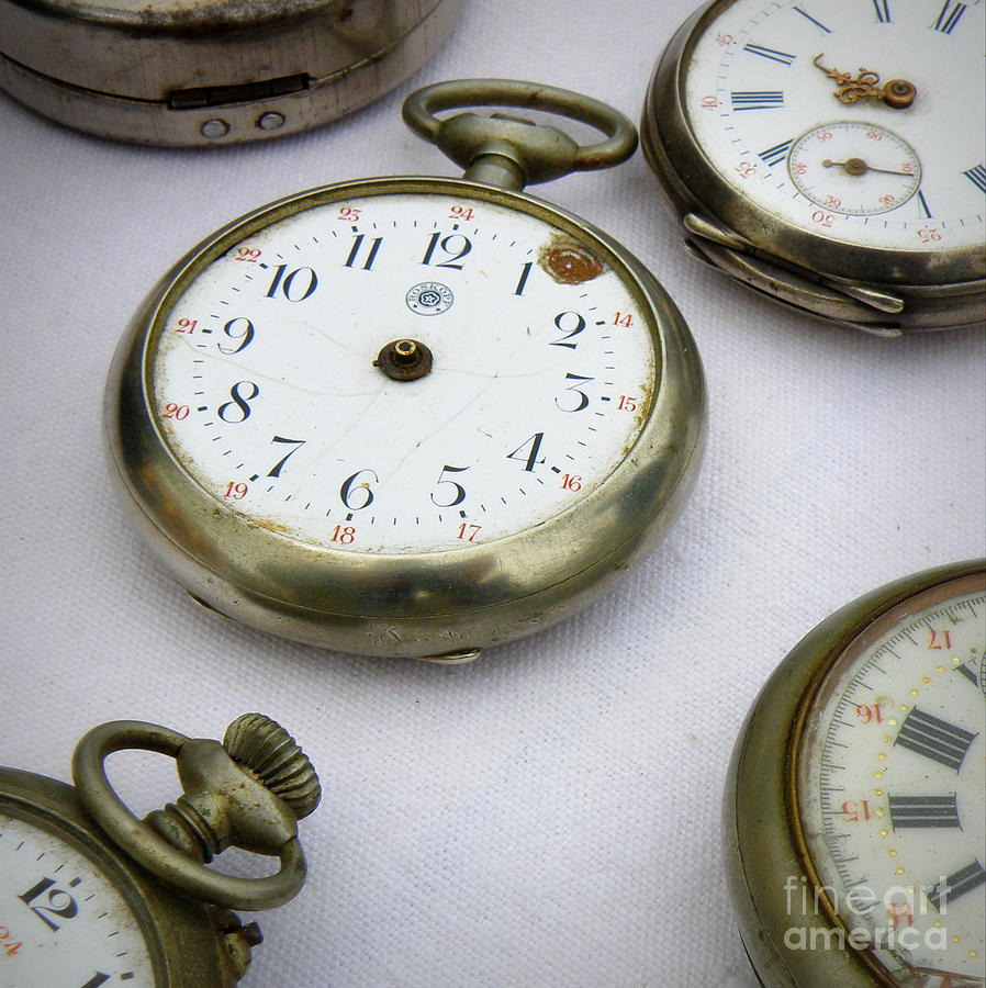 Clock Photograph - All Out Of Time by Lainie Wrightson