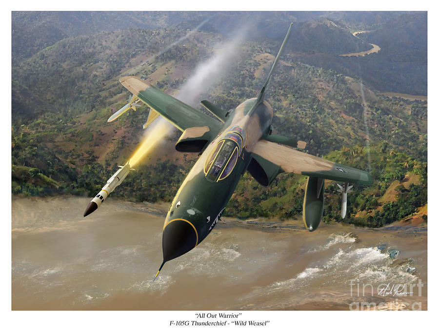 Aviation Painting - All Out Warrior by Mark Karvon