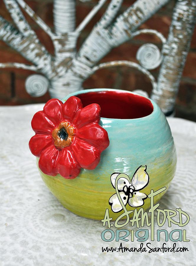 Ceramics Ceramic Art - All Purpose Flower by Amanda  Sanford