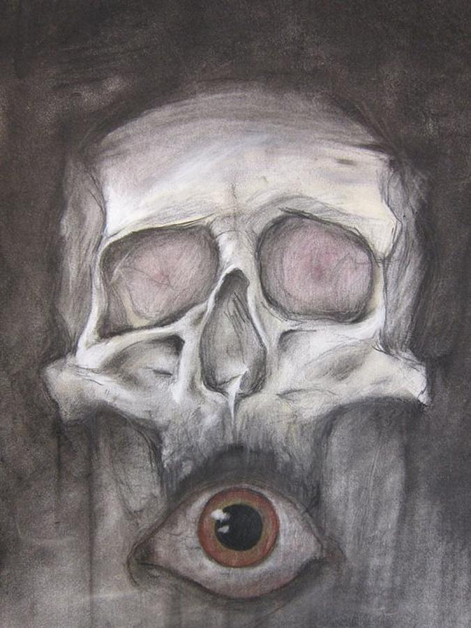 Pastel Drawing - All Seeing by Ryan Woods