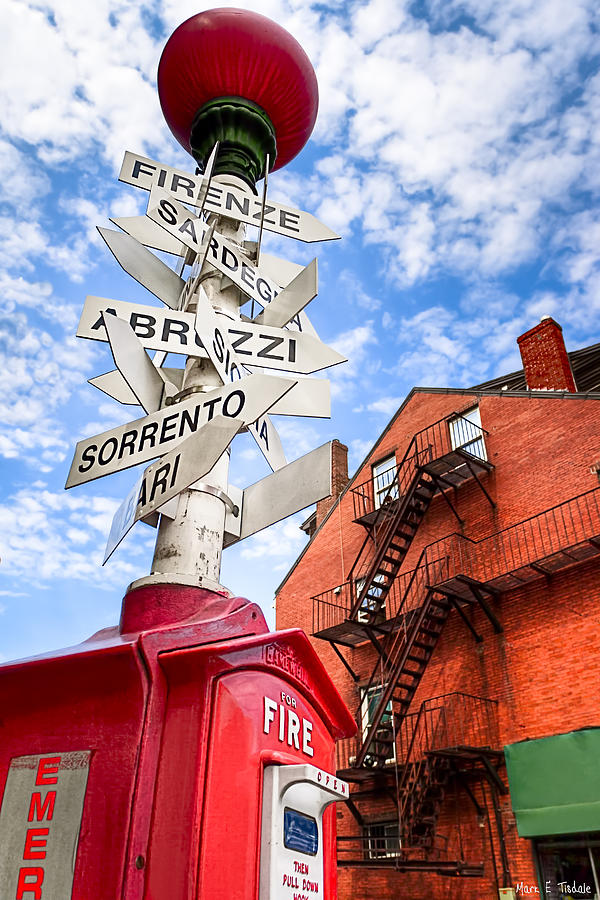 Boston Photograph - All Signs Point To Little Italy - Boston by Mark E Tisdale