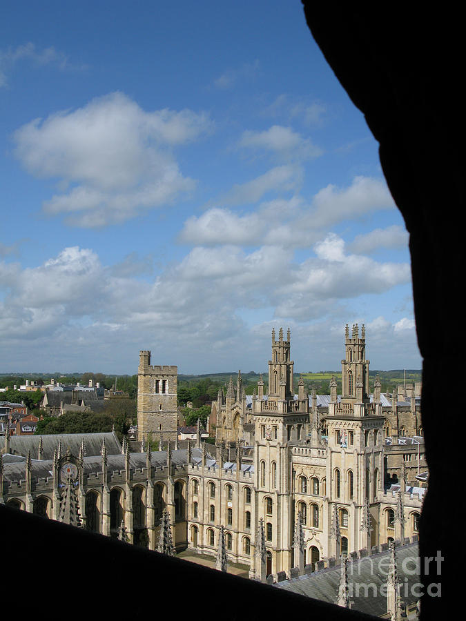 Oxford University Photograph - All Souls College And Beyond by Ann Horn