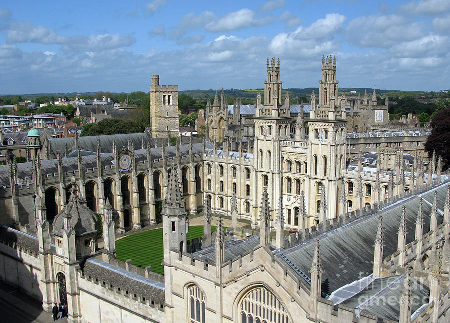 Oxford Photograph - All Souls College by Ann Horn
