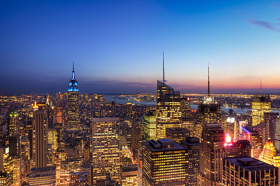 New York Photograph - All That Glitters Is Gold - New York City Skyline by Mark E Tisdale