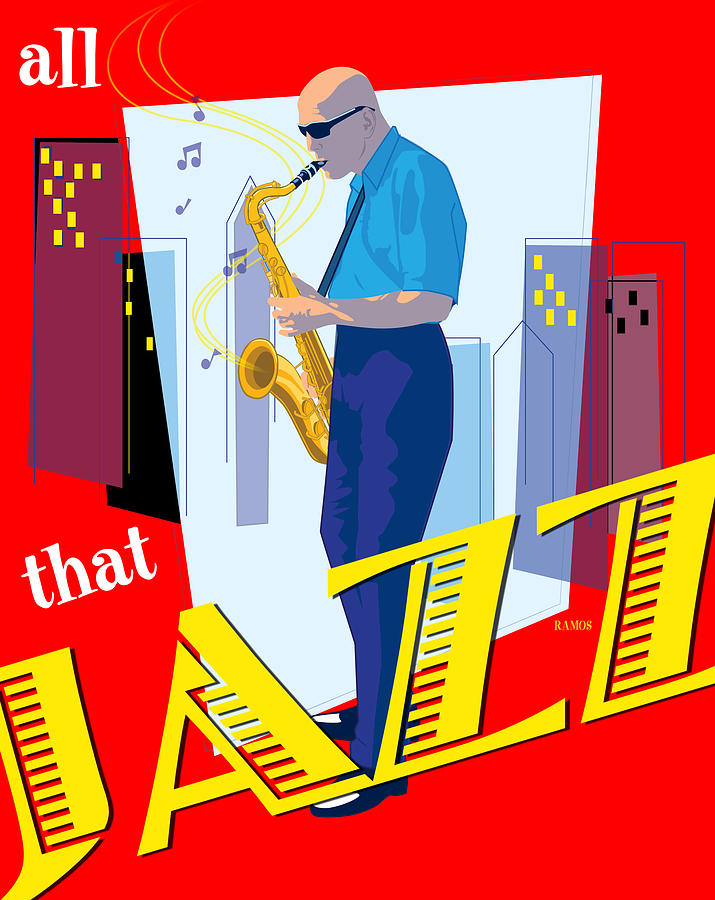 Music Digital Art - All That Jazz by Timothy Ramos