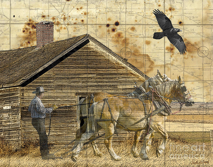 Horses Digital Art - All Thats Left by Judy Wood