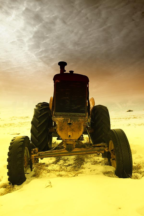 Tractors Photograph - All The Feilds She Plowed by Jeff Swan