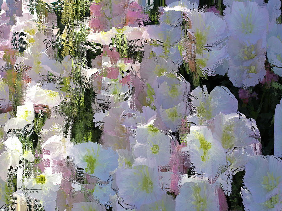 White Flowers Photograph - All The Flower Petals In This World by Kume Bryant