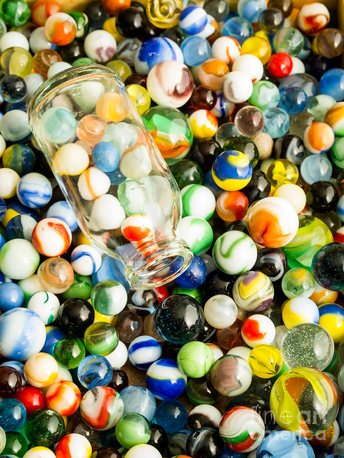 Toys Photograph - All The Marbles by Edward Fielding