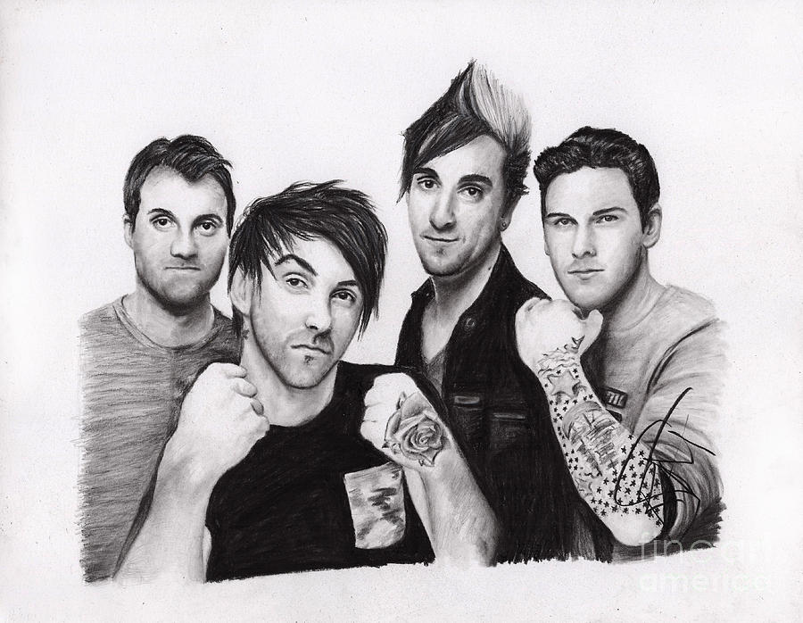 All Time Low Drawing - All Time Low 2 by Rosalinda Markle