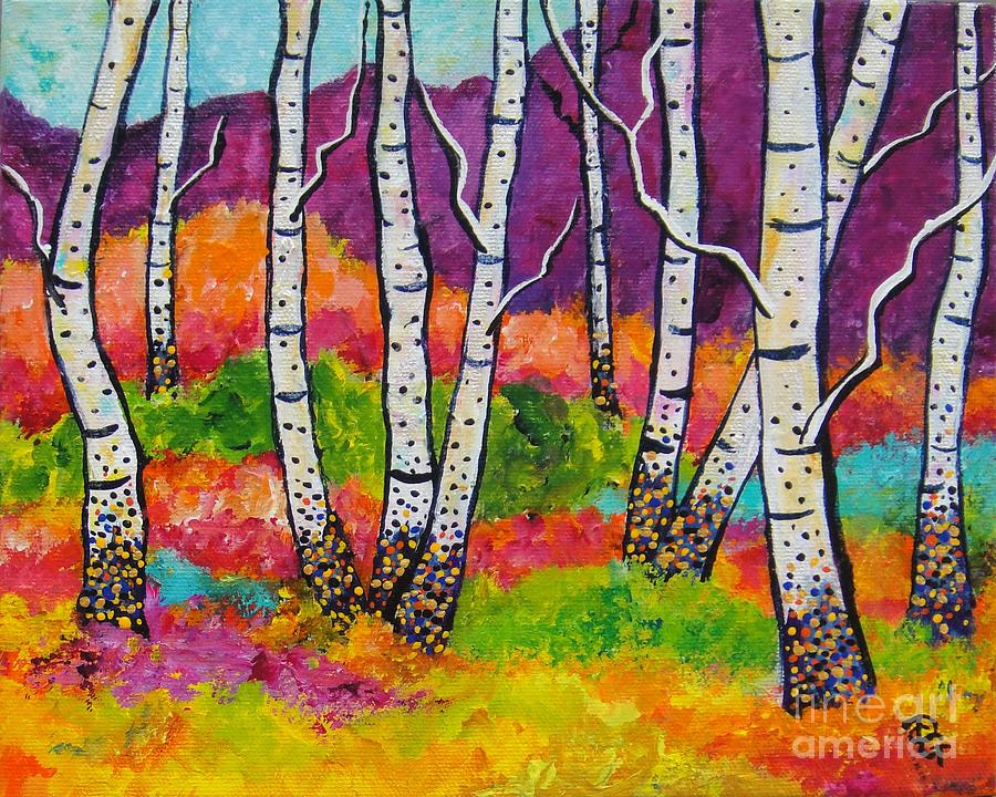 Trees Painting - All Together Now by Deborah Glasgow