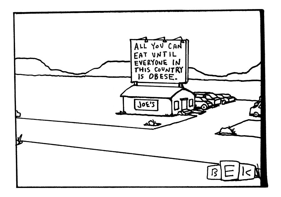 All You Can Eat At Joes Diner Drawing by Bruce Eric Kaplan