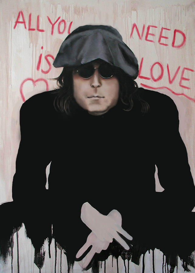 John Lennon Painting - All You Need Is Love by Anthony Falbo