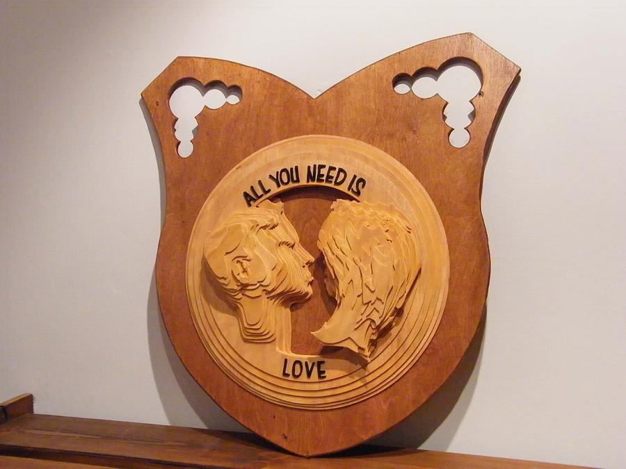 Beatles Sculpture - All You Need Is Love by Motti Inbar