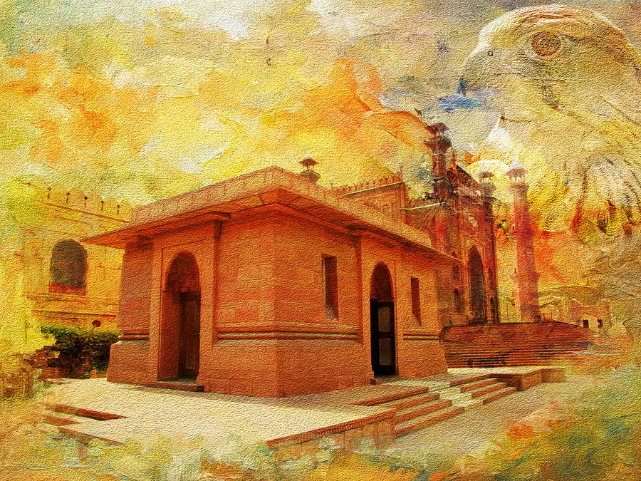 Allama Iqbal Tomb Painting By Catf