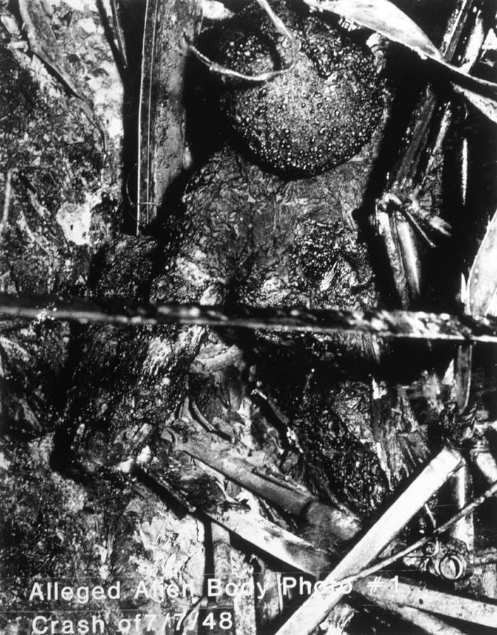 Alleged Alien Remains From A Ufo Crash Photograph by Mary ...