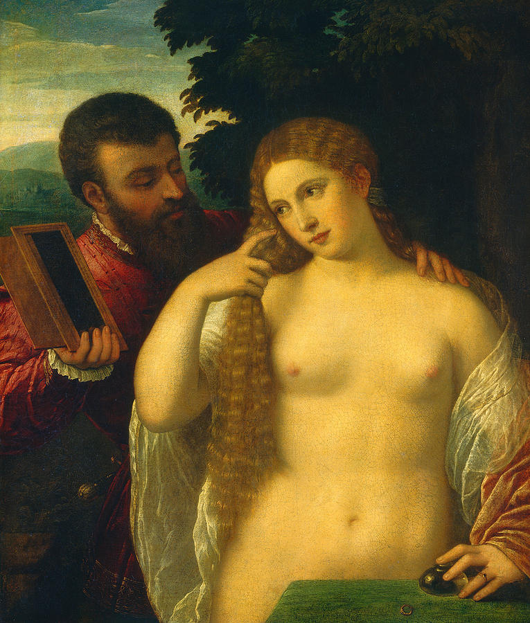 Allegory Painting - Allegory by Titian