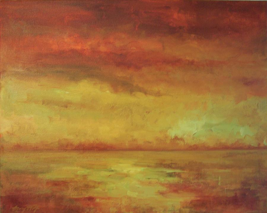 Ocean Painting - Allegro by Mary Wolf