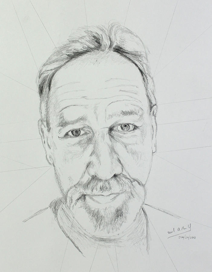 Allen - Step 2 Drawing by Miguel Rodriguez