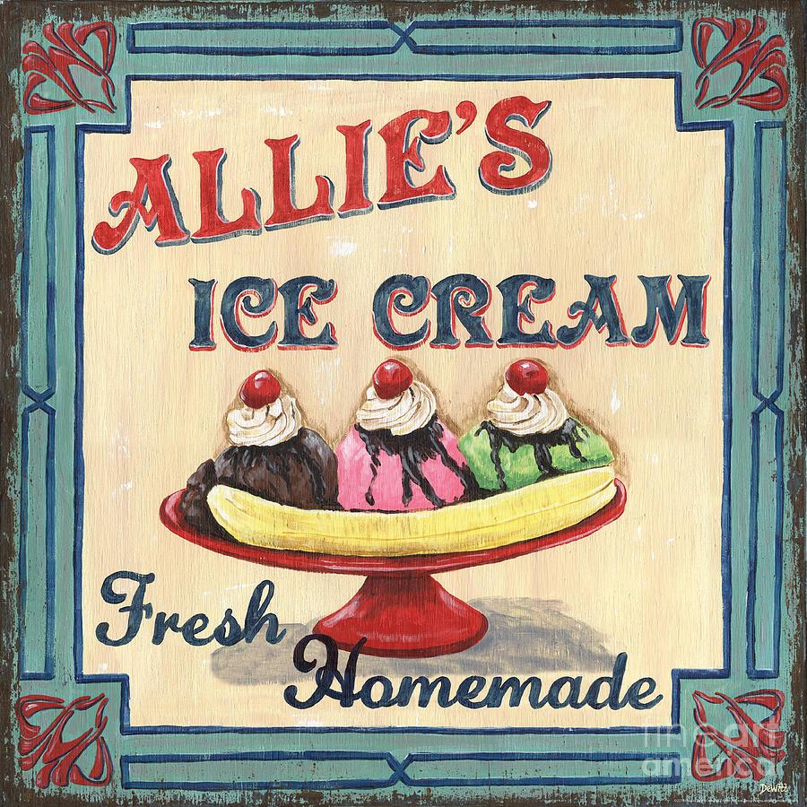 Ice Cream Painting - Allies Ice Cream by Debbie DeWitt