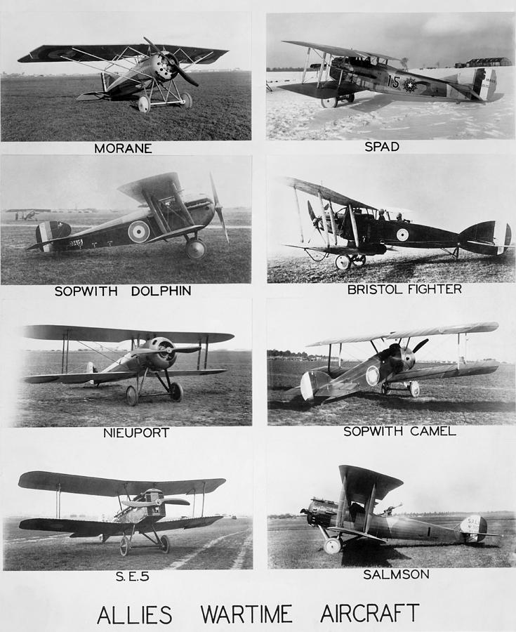 1910's Photograph - Allies World War I Aircraft by Underwood Archives