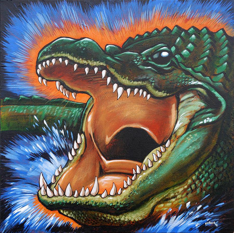 Alligator Painting - Alligator by Glenn Pollard