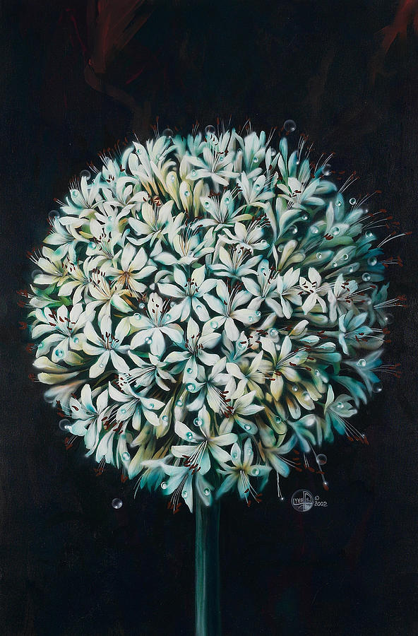 Flower Painting - Allium by Lynette Yencho