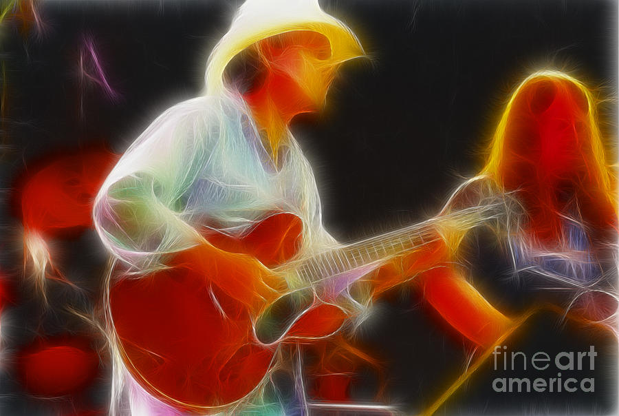 Allman Brothers Photograph - Allman-dickie-95-gc2-fractal by Gary Gingrich Galleries