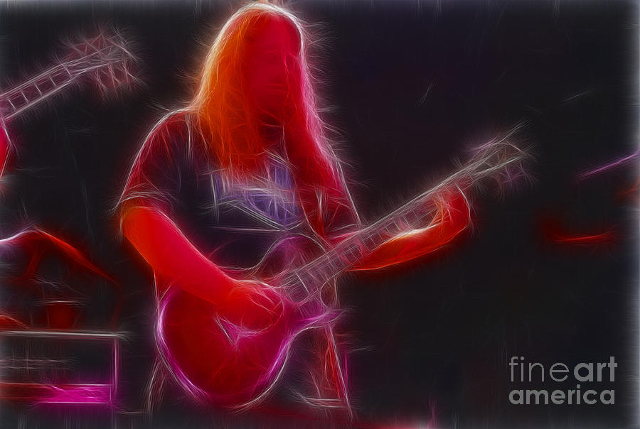 Allman Brothers Photograph - Allman-warren-95-gb3-fractal by Gary Gingrich Galleries