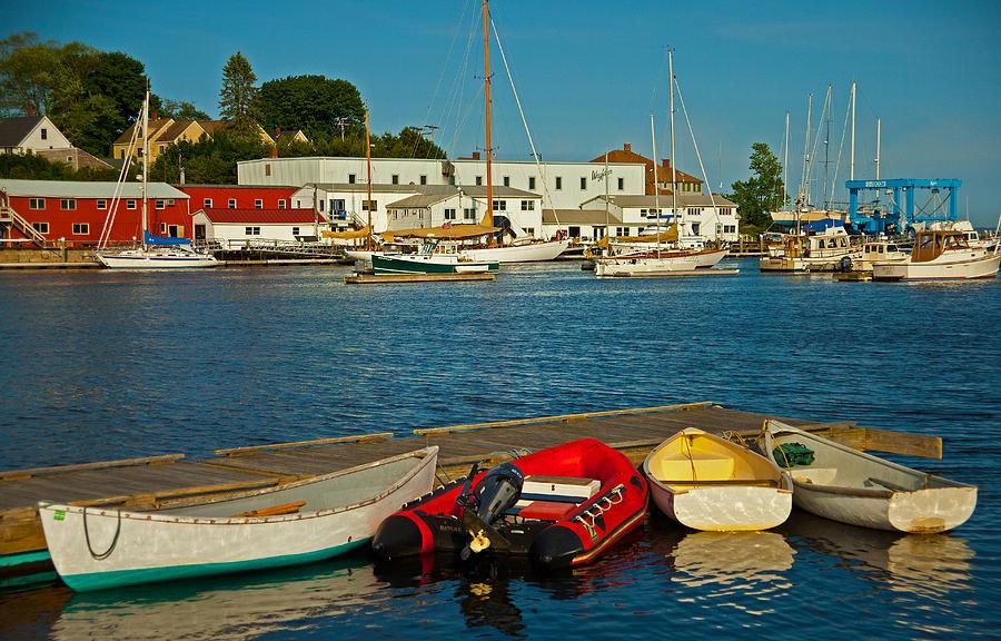 Coastal Photograph - Alls Quiet In The Harbor by Karol Livote
