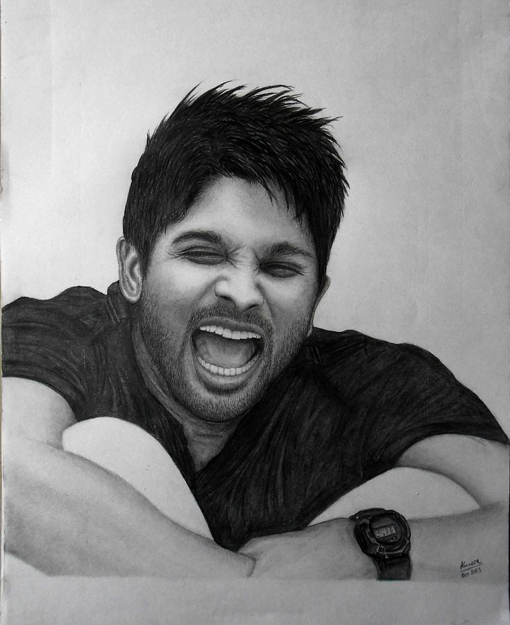 Allu Arjun Pencil Drawing Drawing By Kumar Burra