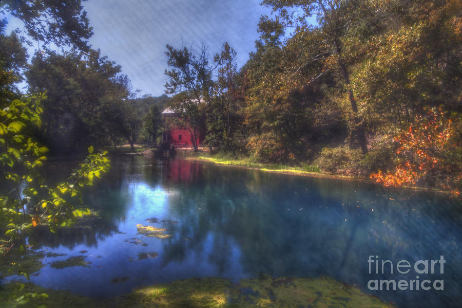 2014 Photograph - Ally Springs Mill  The Fall by Larry Braun
