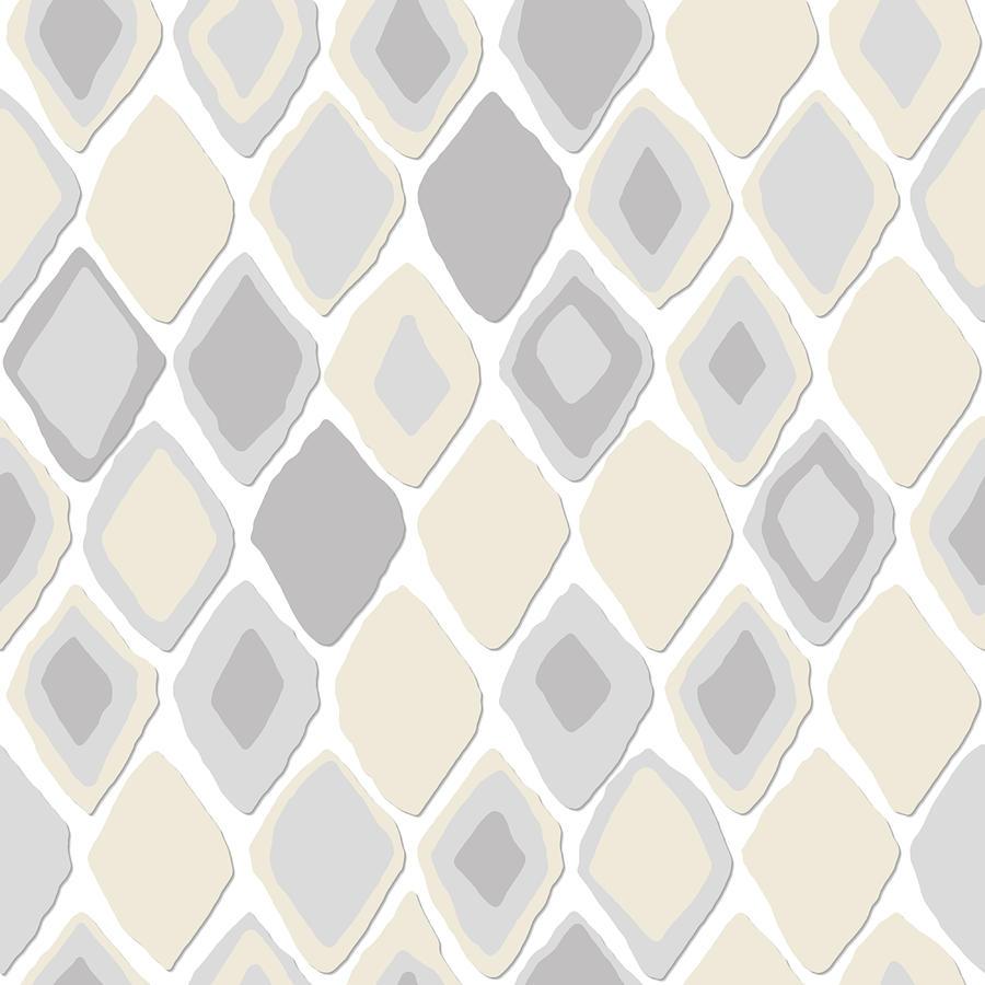 Ikat Drawing - Almas Diamond Pure by MGL Meiklejohn Graphics Licensing