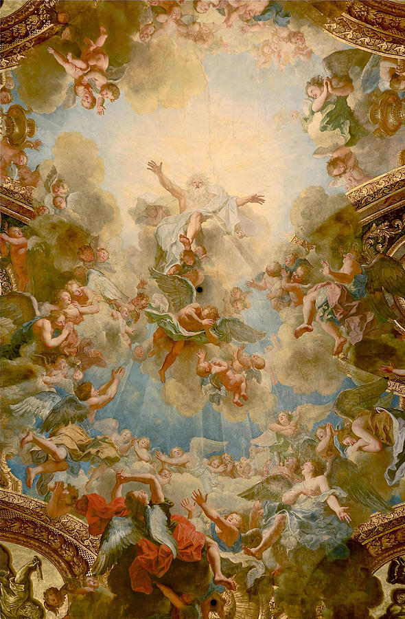 Almighty God The Father Painting By Antoine Coypel