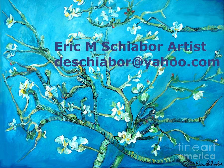 Almond Blossom Van Gogh Painting - Almond Blossom Branches by Eric  Schiabor
