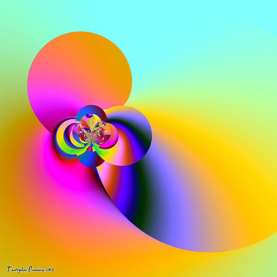 Flat House Interior Decrease Costs Digital Art - Almond Smell Heavenly. 2013 80/80 Cm.  by Tautvydas Davainis