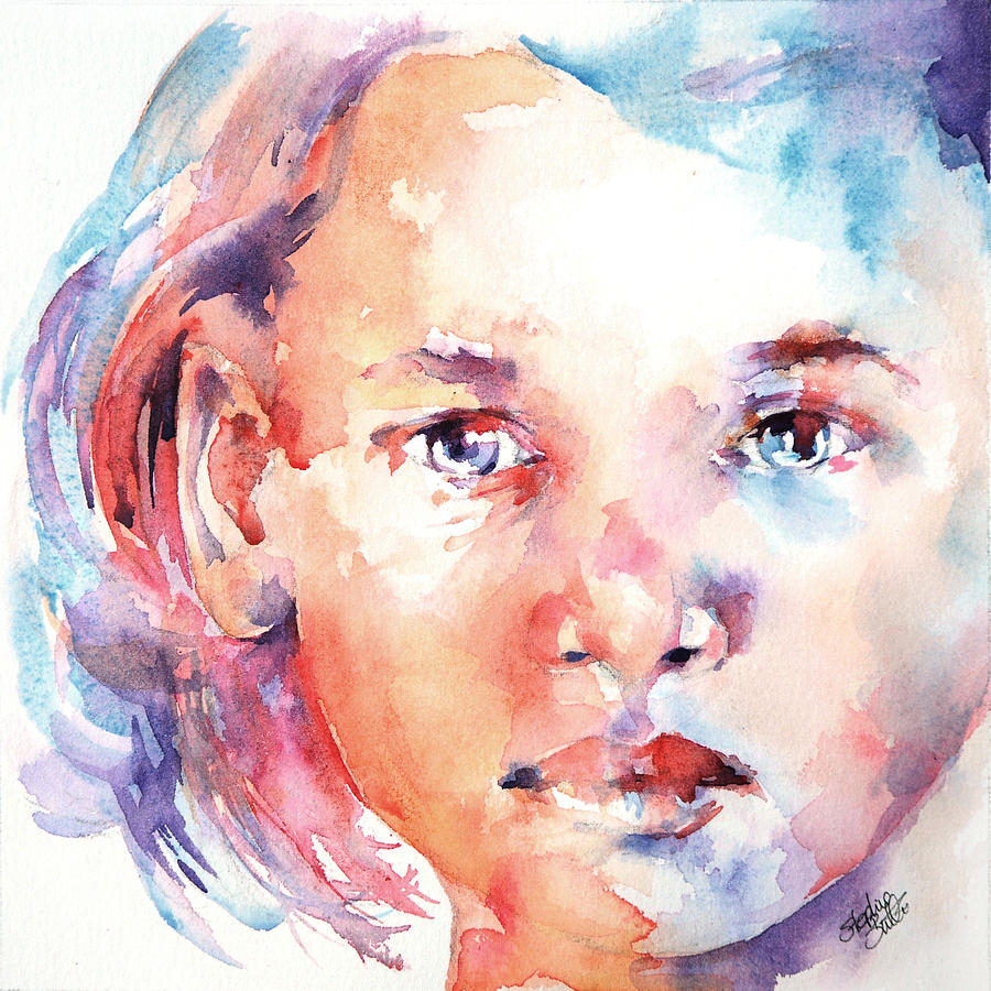 Portrait Painting - Almost 2 by Stephie Butler