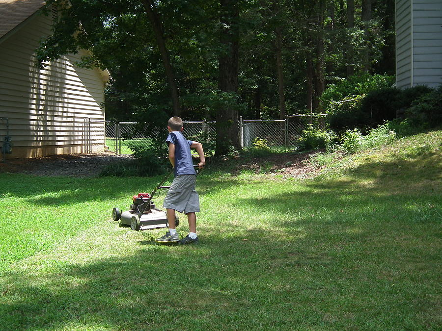 Lawn Photograph - Almost Done by Robert Rhoads