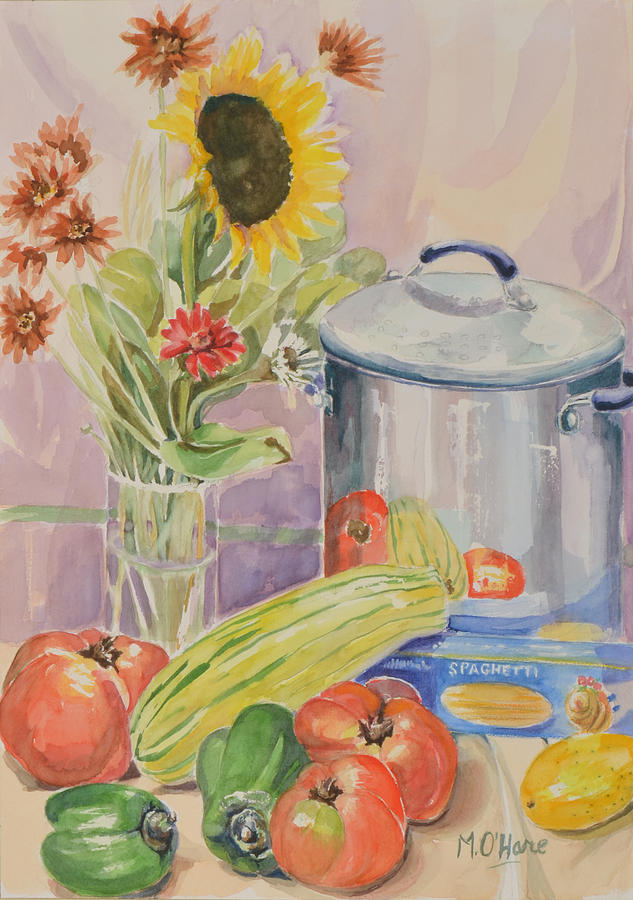 Watercolor Painting - Almost Ready For Dinner by Marianne OHare