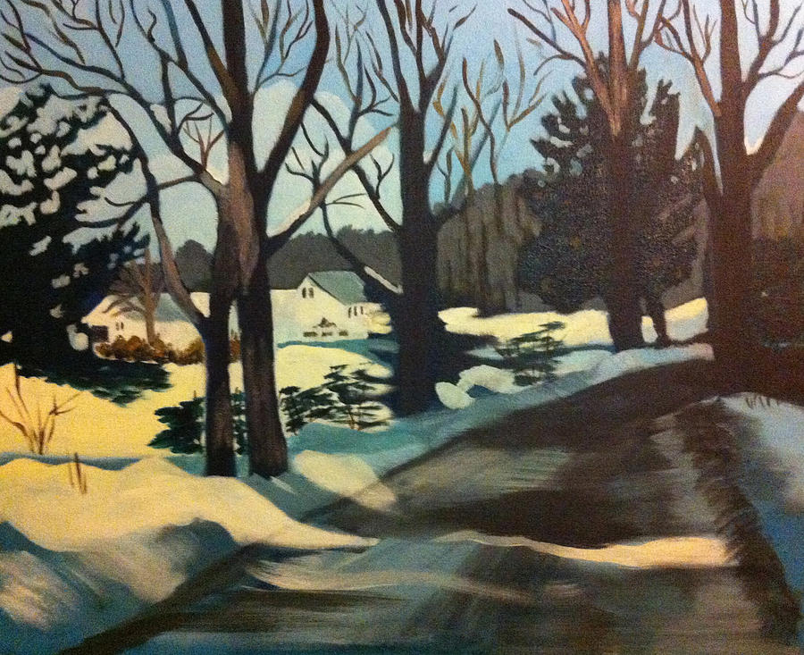 Woods Painting - Almost There by Jane Croteau