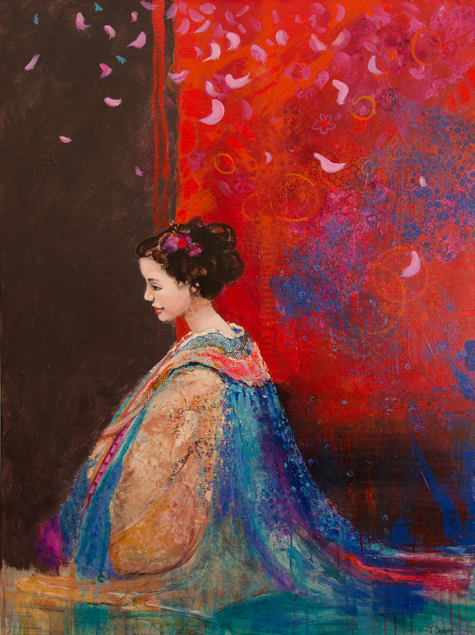 Girl Painting - Almost Tomorrow by Jennifer Croom